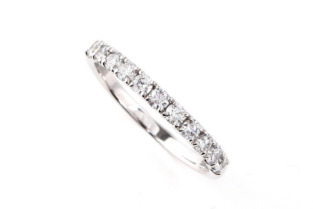 18金  ダイヤモンド ハーフエタニティリング 0.2ct (NS1321115A)