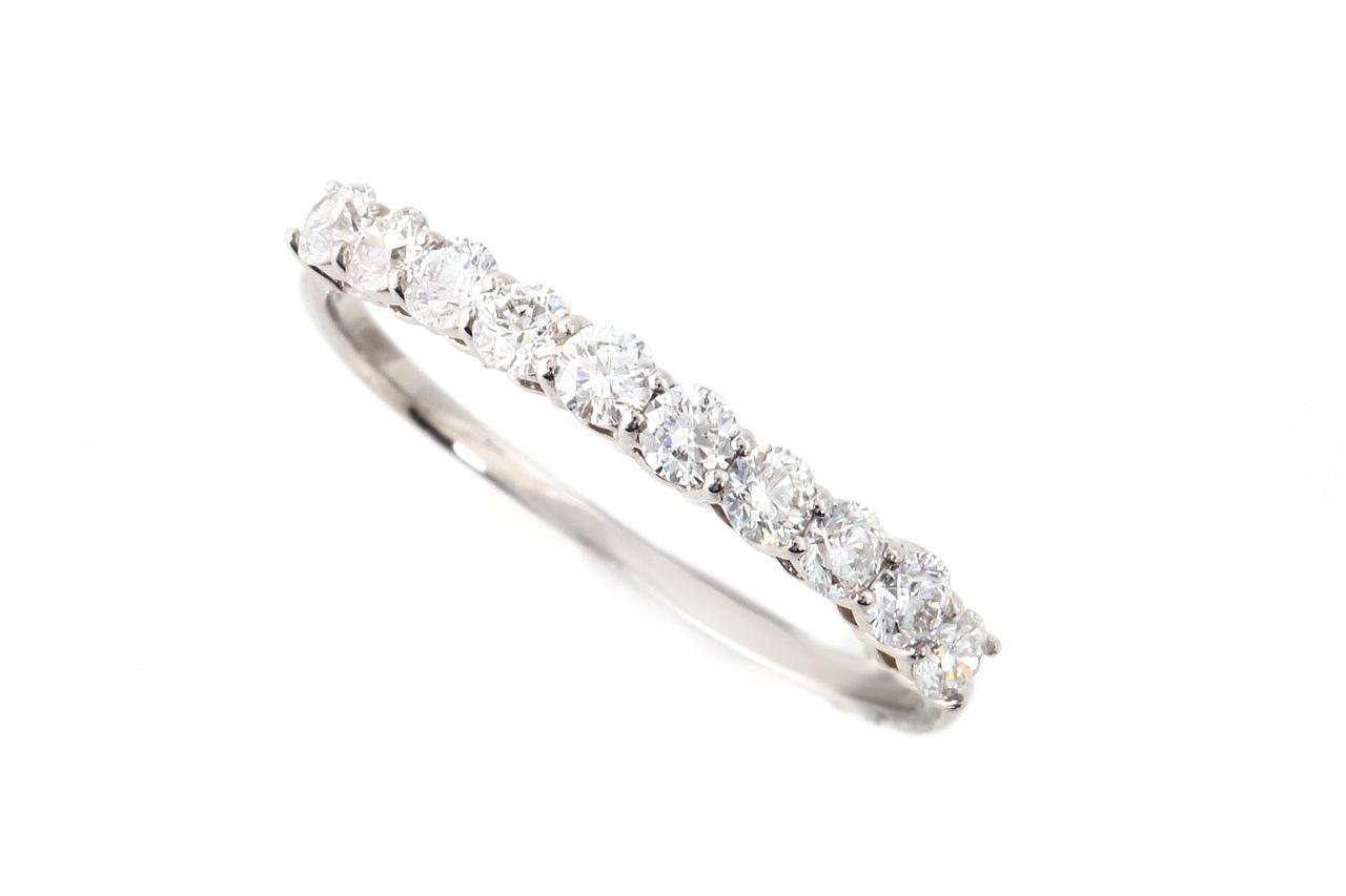 18金 ダイヤモンド ハーフエタニティリング 0.5ct (NS1321110A)