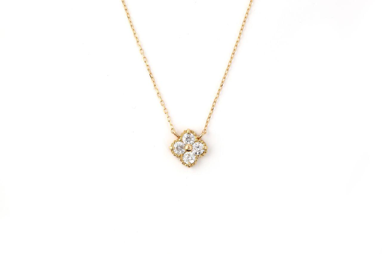 18金 H&Cダイヤモンドネックレス フラワー 0.2ct (NS2323366A)