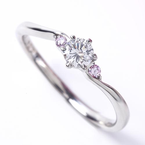 プラスター エンゲージリング (婚約指輪) プラチナ ダイヤモンド ピンクダイヤ